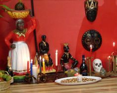 Practicioners of Santeria often build personal altars in their homes.