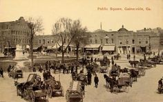 An old postcard of the square in Gainesville, Ga. circa 1900s