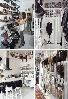 Great ideas for the closet or collections that take up space in our homes, via the Style Files