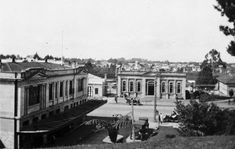 Victoria Street from Garden Place Hill Carnegie Library, Hamilton, Tower, Victoria, History, Street, Building, Places, Garden