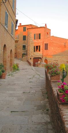 Chiusure Asciano, Toscane, Italië.  Oh those colors!