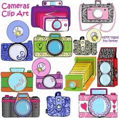Camera Clip Art: Cute Camera Clip Art Retro by DigitalFunFactory Camera Clip Art, Camera Drawing, Cute Camera, Retro Camera, Heart Clip Art, Etsy Business, Photoshop Elements, Arrow, Clipart