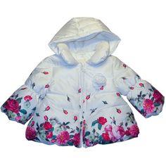 Il giaccone fiorato minibanda per femminuccia è scontato del 30% e ora costa solo 56 euro!  Vieni a trovarci in negozio e approfitta dei Saldi Nidodigrazia sull'abbigliamento per bambini! #abbigliamento #bambini #saldi
