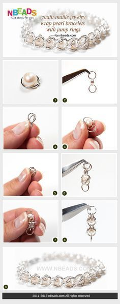 Summary: I always adore delicate and cute jewelry and this chain maille jewelry made with pearls and jump rings is just the right type! The beautiful pearl bracelets made me want one so bad, I think I will have to try my hand at making one for myself soon #diy