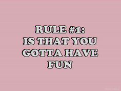 Rule #2: Just don't get attached to somebody you could lose