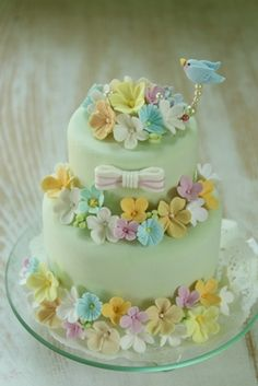 春の庭のように・・・ Clay Art *ケーキ型リングピロー Clay Art Wedding http://clayartwedding.net/ *ウェディングデコレーション そとぼうラスティックWEDDING WeddingFactory http://www.weddingpartyfactory.com/