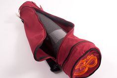 Cotton Asana Yoga Mat Bag with Om embroidery