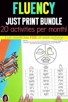 Printable resources for teaching reading fluency in first grade. Includes passages, poems, phonics spinners, and plays. Your primary grade students will love practicing their reading fluency with these fun activities! Reading Games, Reading Fluency, Reading Passages, Teaching Reading, Teaching Ideas, Fluency Activities, Fun Activities, Small Group Reading, Fluency Practice