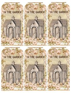 """""""In the Garden"""" gift tags ~ free printable"""