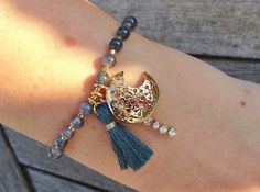 Moon Charm Bracelet by cocolocca on Etsy