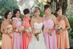 Breckenridge Wedding by Save the Date Events Peach Bridesmaid Dresses, Bridesmaids And Groomsmen, Fall Wedding Dresses, Colored Wedding Dresses, Cheap Wedding Dress, Wedding Bridesmaids, Spring Wedding, Wedding Colors, Dream Wedding
