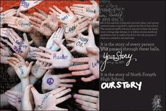 Hands saying where people have been or what to go with one saying You Are Here and one saying Hanford