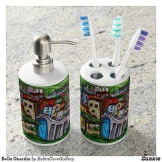 Bella Guardia Soap Dispenser & Toothbrush Holder