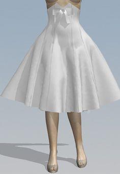 High Waist Retro Swing Skirt by Amber Middaugh