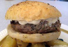 Hamburger med geitekjøtt Ethnic Recipes, Food, Meal, Eten, Meals