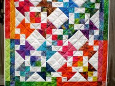 Batik Beauty 40 inches square by happyquilts on Etsy