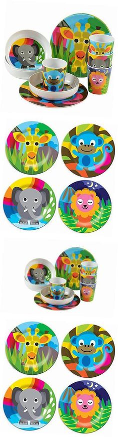 Eating and Drinking 115715: - Bpa Free Kid S Dinner Set - 8-Inch Melamine Kids Plate Set - Jungle, Set Of 4 -> BUY IT NOW ONLY: $41.63 on eBay!