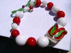 Armband,Viva Italia, Lampwork von kunstpause auf DaWanda.com