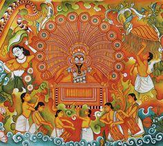 image description Shiva, Krishna, Kerala Mural Painting, Indian Folk Art, Diy Art Projects, Indian Paintings, Mural Art, Art Club, Paint Designs