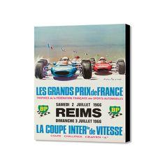 """Grand Prix de France 1966 (16""""W x 20""""H x 1.5""""D)"""