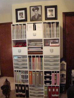 Scraproom - Scrapbook.com--would love to have this size storage!  Perfect for 12 x 12.