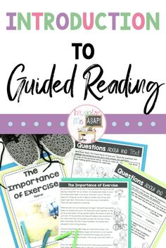Introduction to Guided Reading (Small Group Reading Instruction) - Inspire Me ASAP Guided Reading Binder, Guided Reading Organization, Student Reading, Kindergarten Reading, Teaching Reading, Learning, Reading Centers, Reading Workshop, Small Group Reading