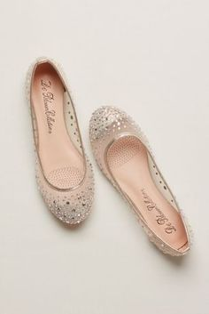 72e204b97f87 Add a little sparkle and shine to complete your look! Mesh ballet flats  feature scattered