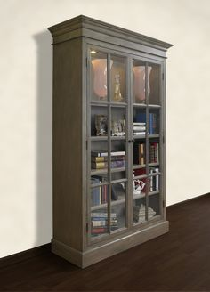 A&E Wood Designs French Restoration Provence Display Cabinet | Wayfair