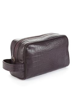 Buy the Leather Mock Crocodile Skin Washbag from Marks and Spencer's range. Crocodile Skin, Dapper Men, Wash Bags, Zip Around Wallet, Men's Fashion, Take That, Luxury, Leather, Gifts