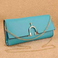 Fumiye - Womens fashion blue clutches evening #bag. blue #clutches evening bag purse design, approx 29x15x4cm, 0.60kg, trim shoulder strap, 1 x main compartment, 1 open pocket, top snap closure. $47.00