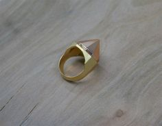 Upside Diamond Ring (rose gold, gold)
