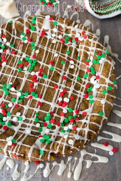 This soft and chewy cookie cake is the best way to eat gingerbread!