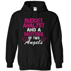 BUDGET ANALYST and a mother of 2 angels T Shirt, Hoodie, Sweatshirt