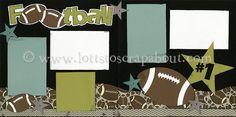Football Scrapbook Page Kit - Click Image to Close