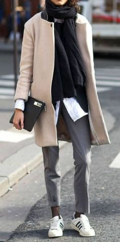 Woman casual sporty business outfit