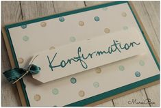 - MaraBee& World: Confirmation Cards ! Communion, Confirmation Cards, Diy And Crafts, Paper Crafts, Some Cards, Post Wedding, Stamping Up, Baby Cards, Scrapbook Cards