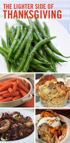 Taking a ride on the lightened-up side doesn't mean sacrificing great taste. Cook up these flavor-loaded Turkey Day side dishes and see for yourself.