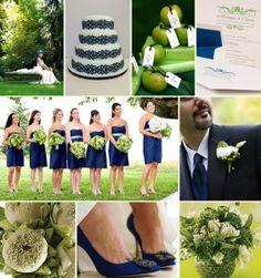 Lime and Navy - same wedding theme colours
