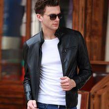 Wholesale Hot Man Leather Jacket Fashion Motorcycle PU Jacket