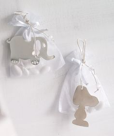 Christening Bonbonniere Lucky charm Elephant & Snoopy 100623