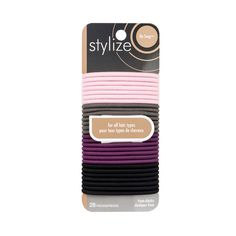 Stylize No Snag Elastics, Pastel: These No Snag elastics glide on and off any ponytail with ease and without pulling or tugging. These elastics have no metal parts, and are designed for all hair types. Luxury Beauty, Hair Ties, Metal, Pastel, Hair Accessories, Shop, Products, Ribbon Hair Ties, Pie