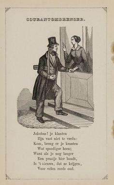 Courantombrenger. Uit: Prentenboek: een ijverige hand vindt werk, 1850. Aanvraagnummer: 851998240
