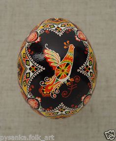 "Ukraine Pysanka by Oleh K Chicken Easter Egg Weight 2 16"" in Pysanky | eBay"