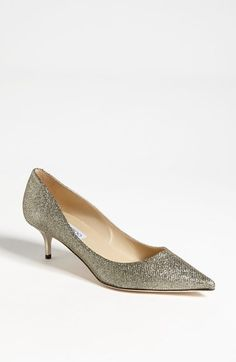 Free shipping and returns on Jimmy Choo 'Aza' Pump at Nordstrom.com. A kitten heel adds subtle lift to a shimmering pump crafted with a sophisticated almond toe.
