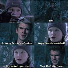 Katniss and peeta's Daughter and Gale • HAHAHAHAHAHHAHAHA SILLY GALE
