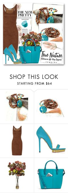 """True Nature Jewelry 2"" by fashionmonsters ❤ liked on Polyvore featuring Halston Heritage, Charlotte Olympia, Nearly Natural, Vera Bradley and Moroccanoil"