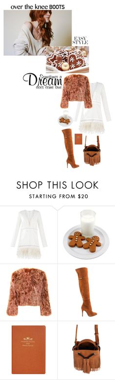 """""""I shall gingerbread you"""" by lseed87 ❤ liked on Polyvore featuring BCBGMAXAZRIA, Topshop, Kristin Cavallari, Debrett's, Boots, OverTheKneeBoots and Kneehighboots"""