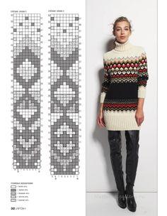 Fair Isle Knitting Patterns, Knitting Charts, Knitting Designs, Knitting Stitches, Knitting Yarn, Tejido Fair Isle, Knitting Magazine, Cardigan Pattern, Sweater Fashion
