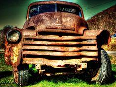 Old Truck Photograph Rusty Chevrolet Truck by AmericanaArtByEllis, $25.00