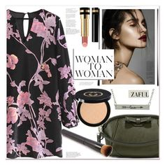 """""""Floral Velvet Dress"""" by mycherryblossom ❤ liked on Polyvore featuring Gucci"""